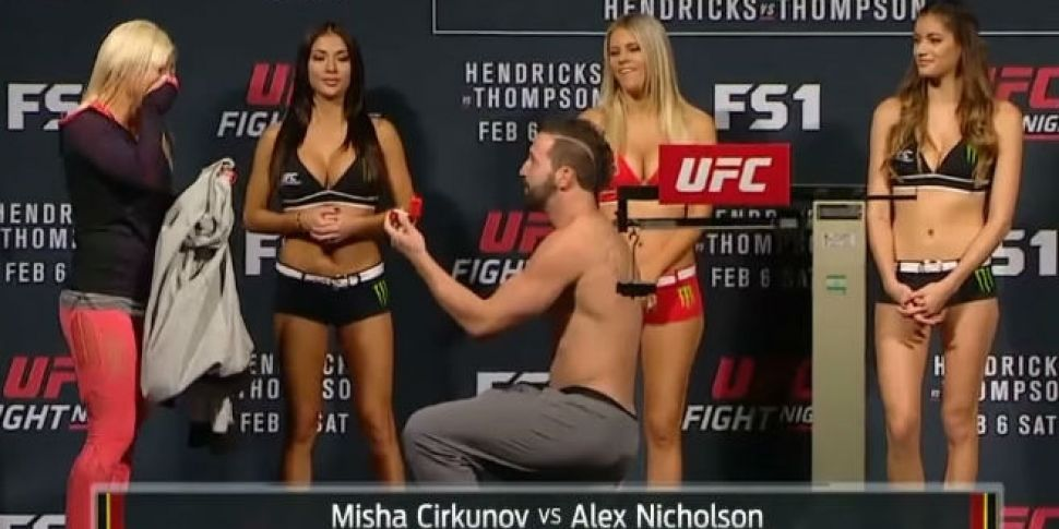 WATCH: MMA fighter proposes to...
