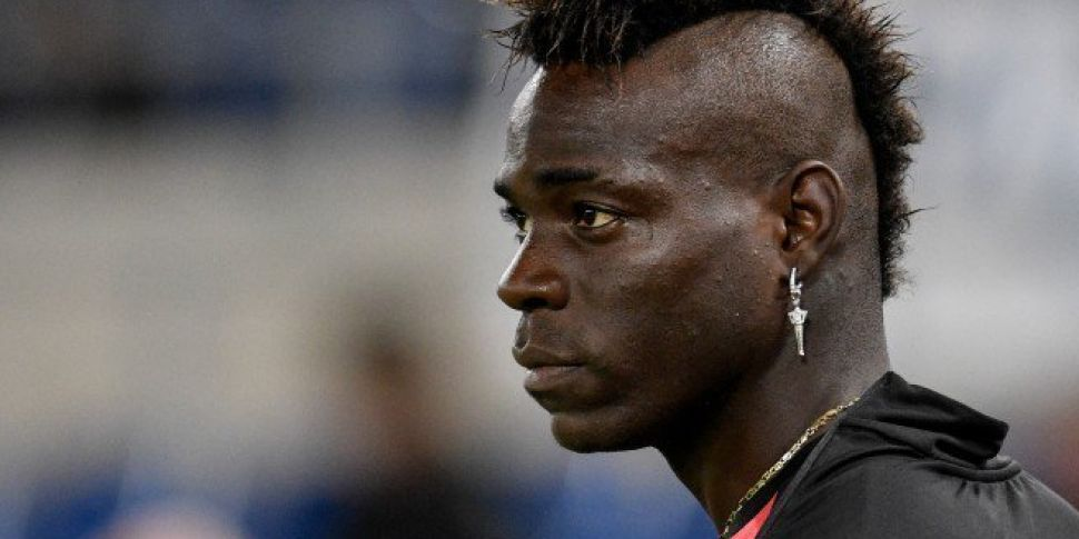 Mario Balotelli booked for pro...