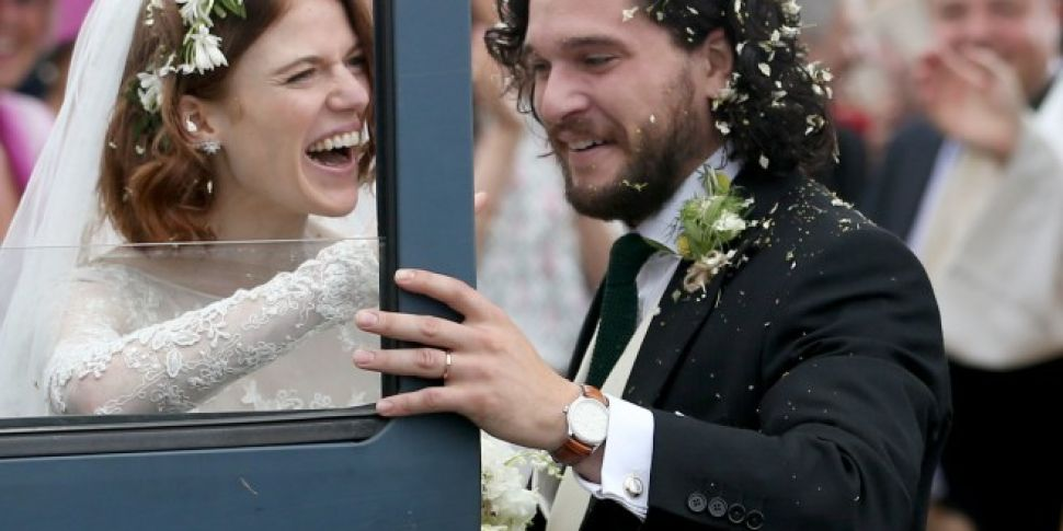 Kit Harington And Rose Leslie Are Officially Married Off The Ball