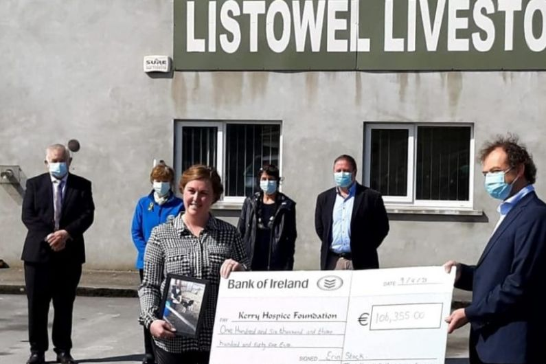 Moyvane woman raises over €100,000 for Kerry Hospice Foundation