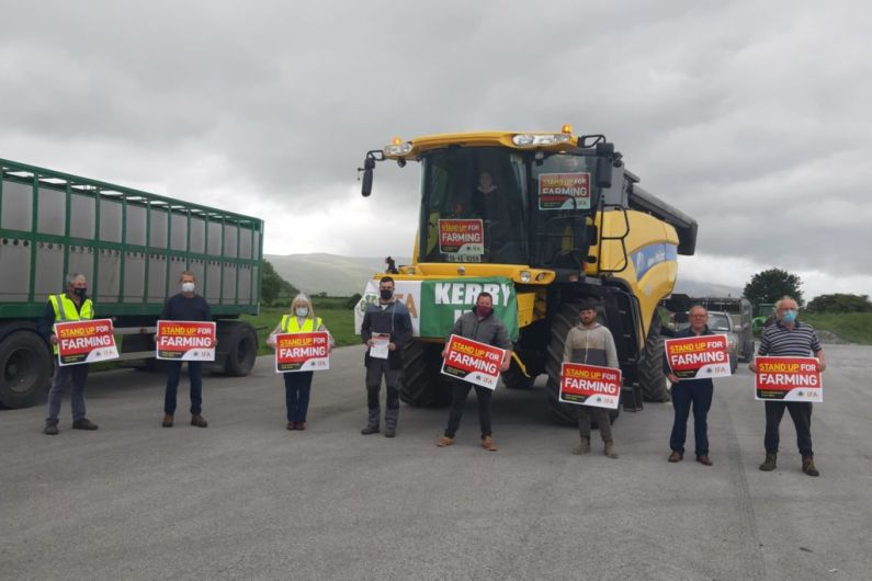 Up to 60 farmers take part in Kerry IFA rally