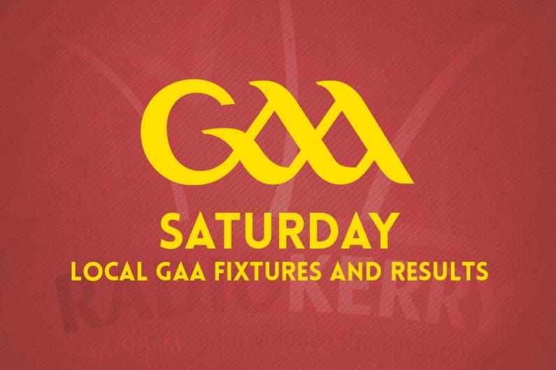 Saturday local GAA fixtures & results