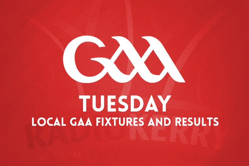 Tuesday Local GAA Fixtures & Results