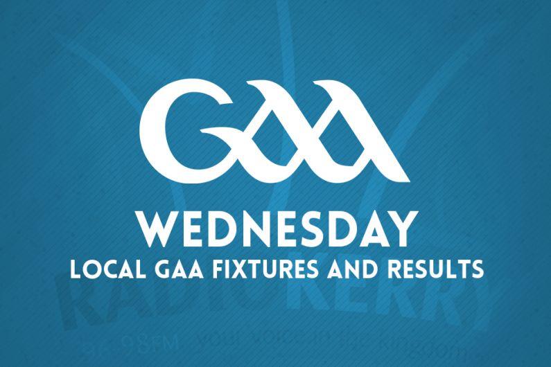 Local GAA Wednesday Fixtures
