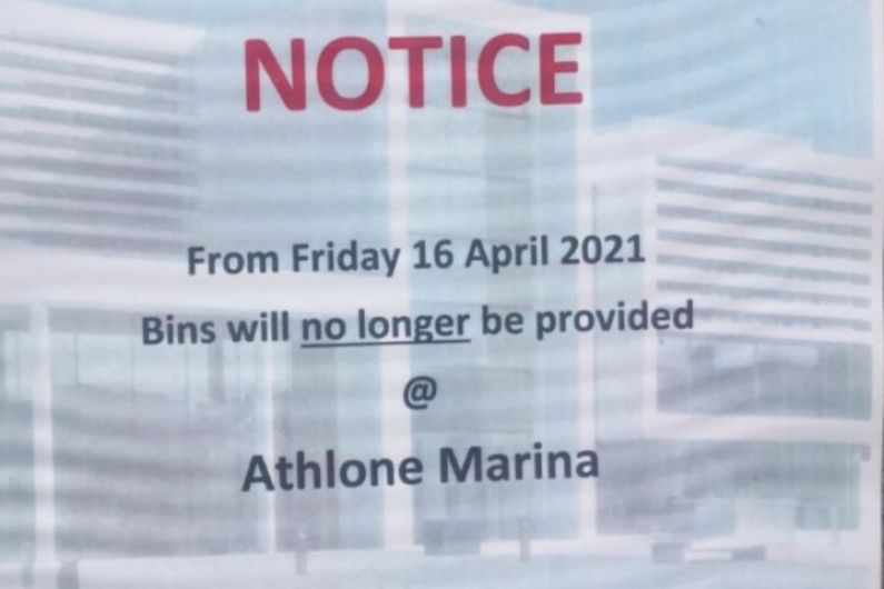 Concerns raised over decision to remove Athlone Marina bins