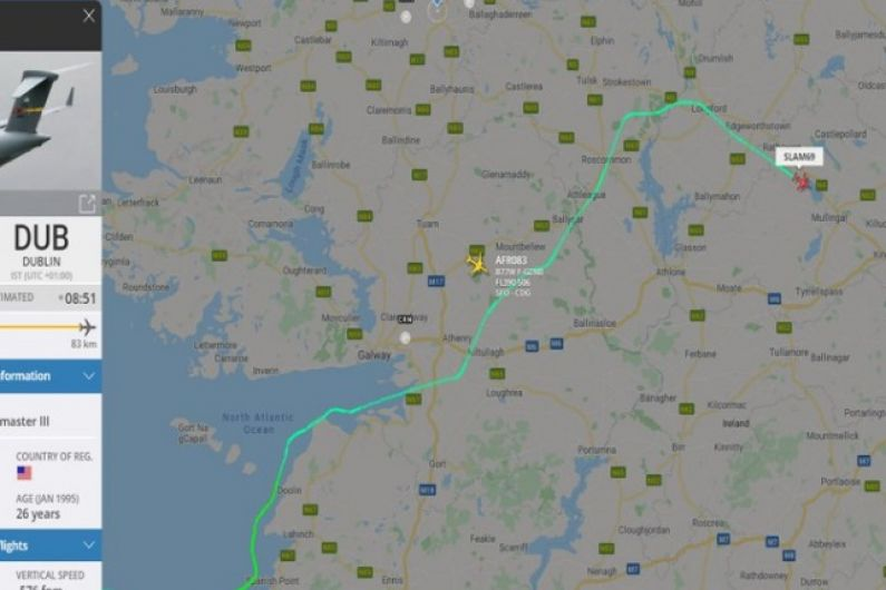 US Airforce plane says hello to Longford as pilot admits he's a native