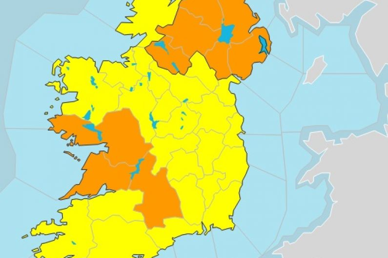 Roscommon and Mayo issued with status yellow thunderstorm warning