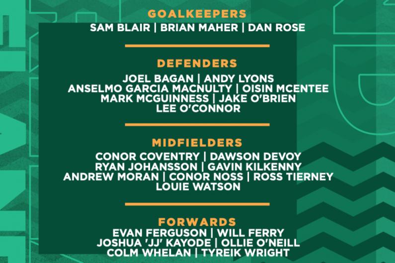 Ireland U21 Squad announced