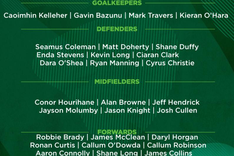 Parrott and Bazunu in Kenny's Ireland squad