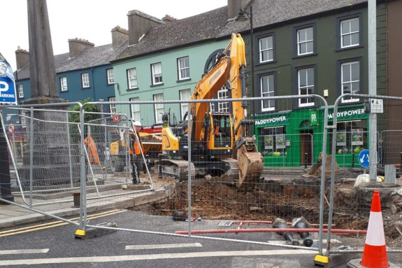 Traffic delays on Circular Road in Roscommon town to continue until August