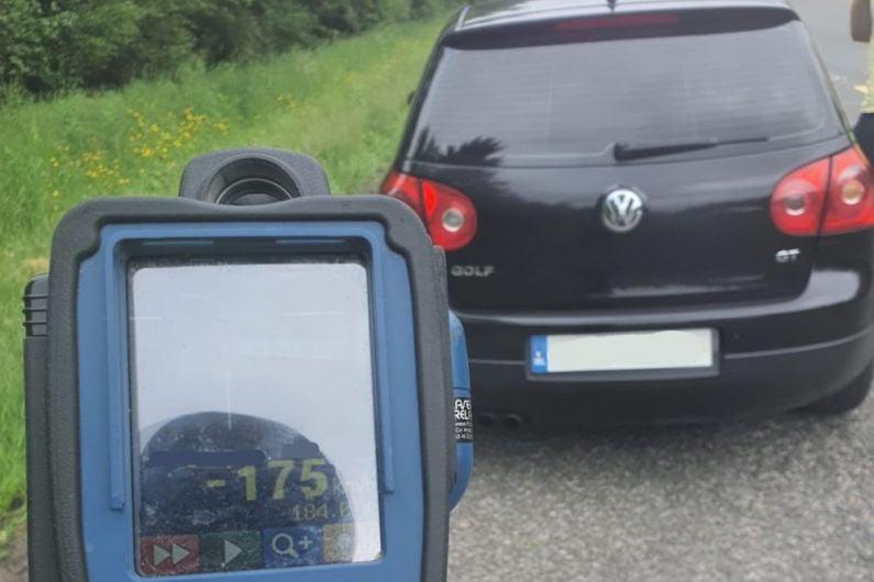 Motorist caught driving at 175kph on N4 near Mullingar