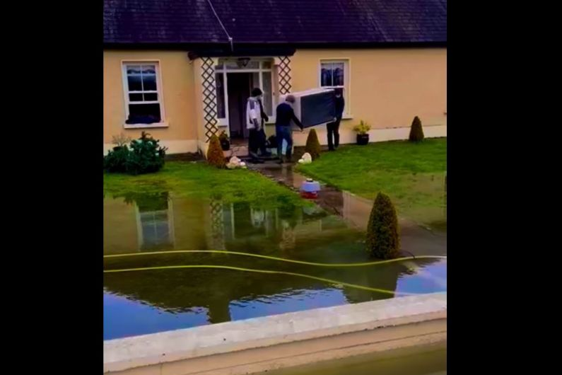 Family forced to leave their home as Lough Funshinagh flood waters rise