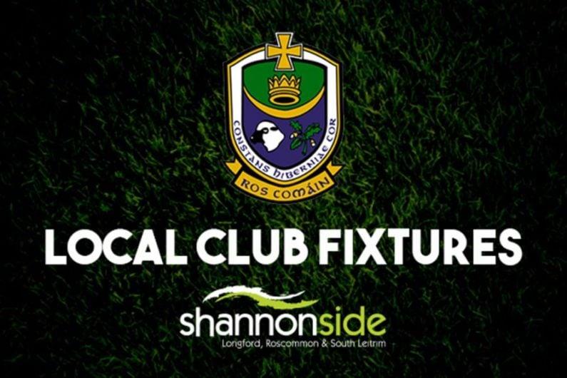 Roscommon GAA fixtures weekending June 13