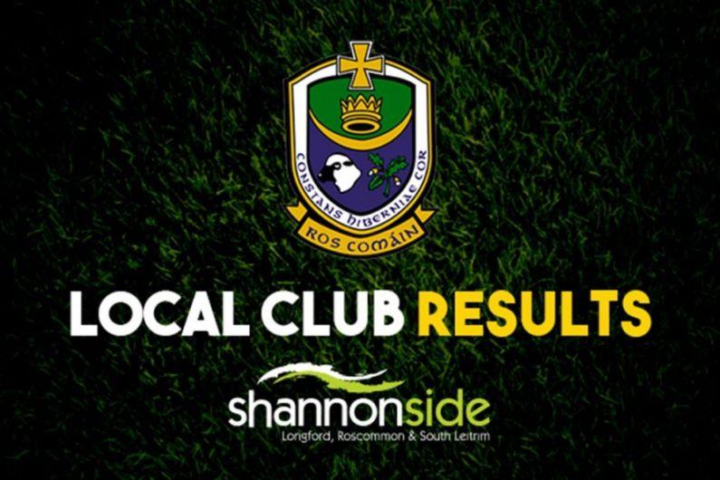Roscommon club results weekending September 12