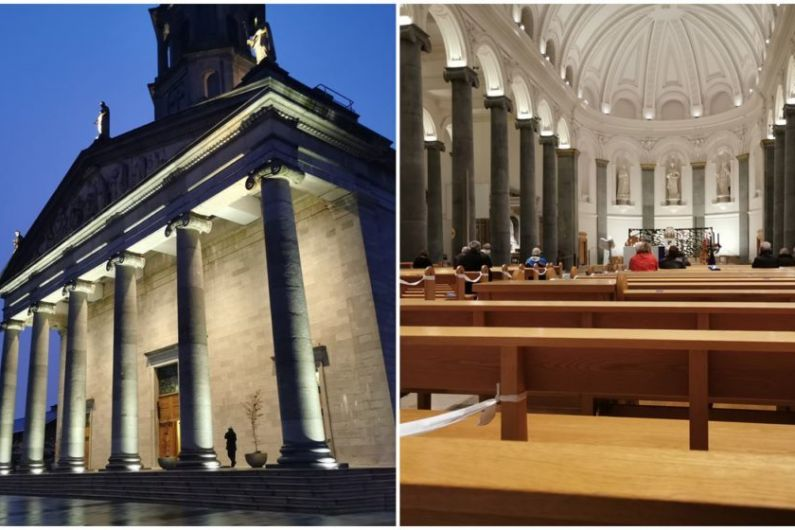 """LISTEN: """"Terrific to be back"""" as dozens attend first mass in St Mel's Cathedral in weeks"""