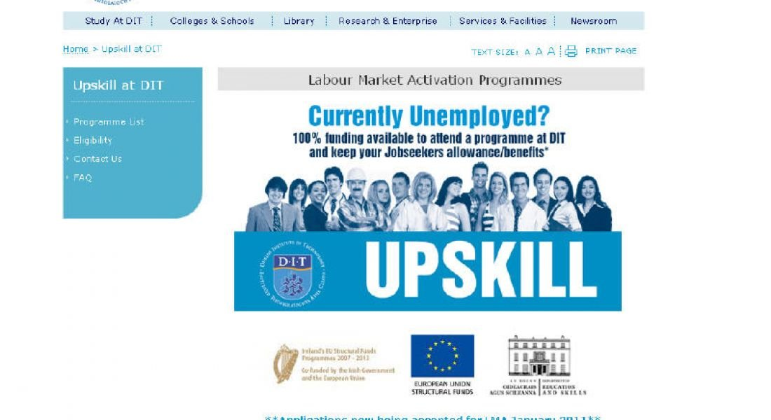 DIT offers unemployed 300 places in tech upskilling courses