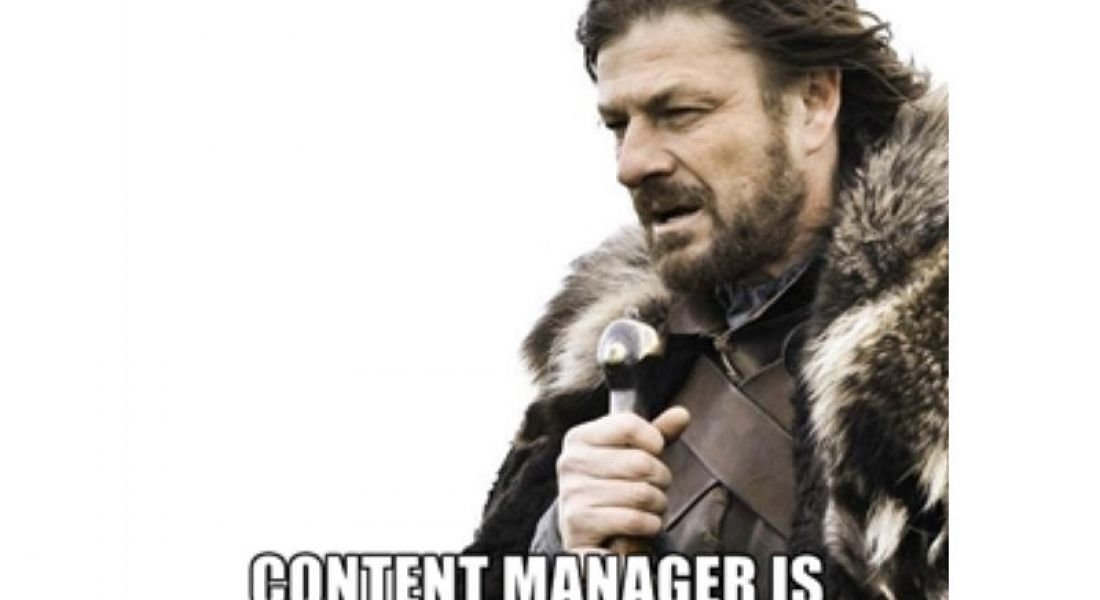 Career memes of the week: content manager