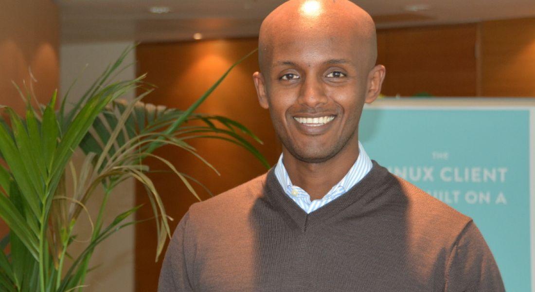 Sales team member Joel, an Italian-born Ethiopian from LA, moved to Ireland for Dropbox
