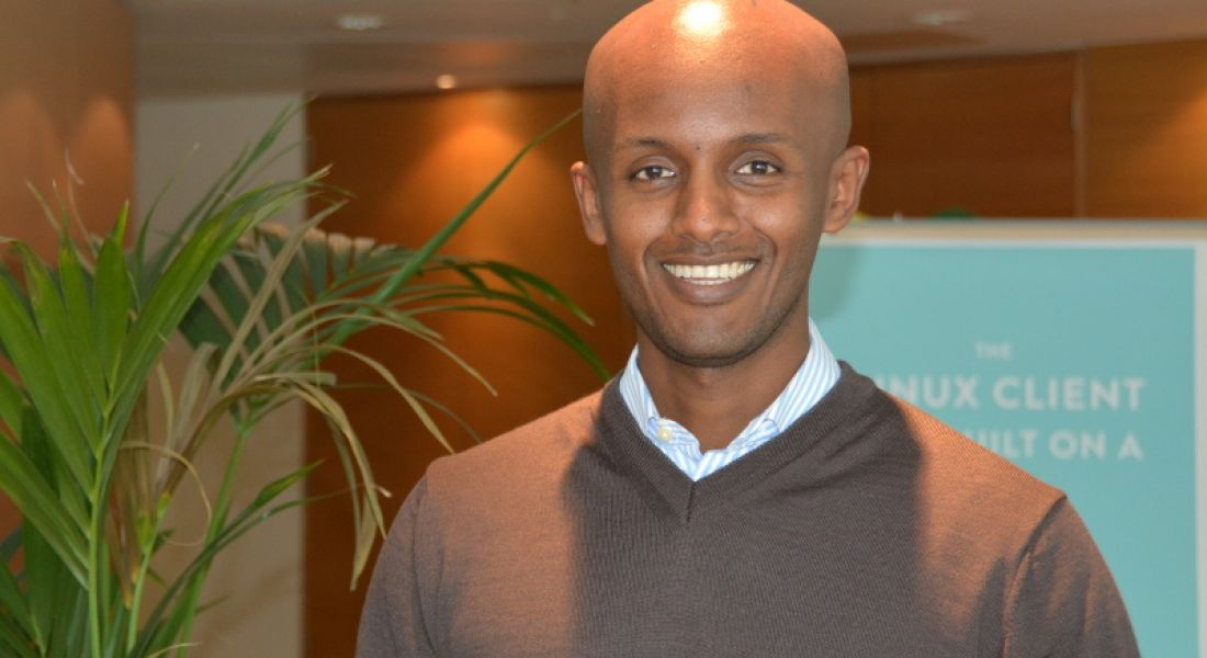 Sales team member Joel, an Italian-born Ethiopian from LA, moved to Ireland for Dropbox