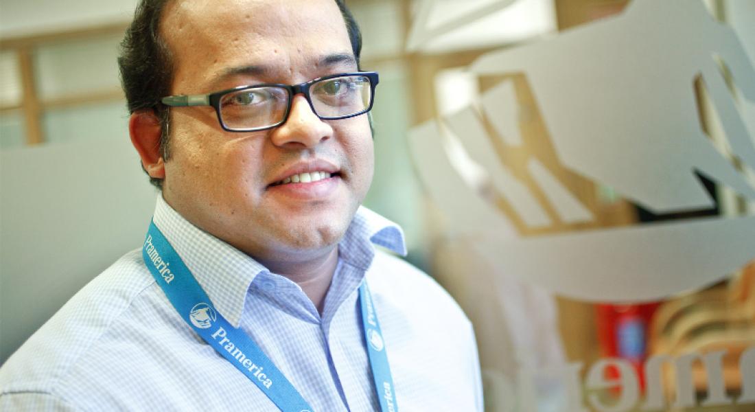 Shijeemon Abraham, systems manager at Pramerica