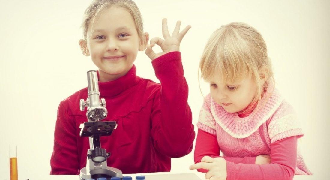 Children doing a biology test