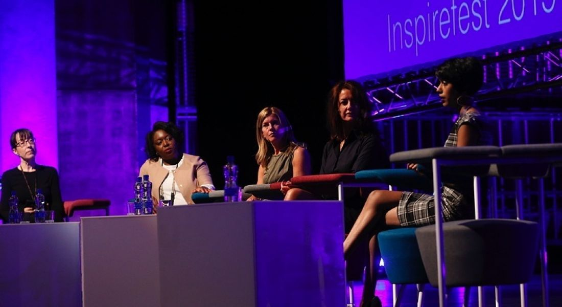 Diversity panel: 'People look up from their iPhones when you start talking about money' (video)