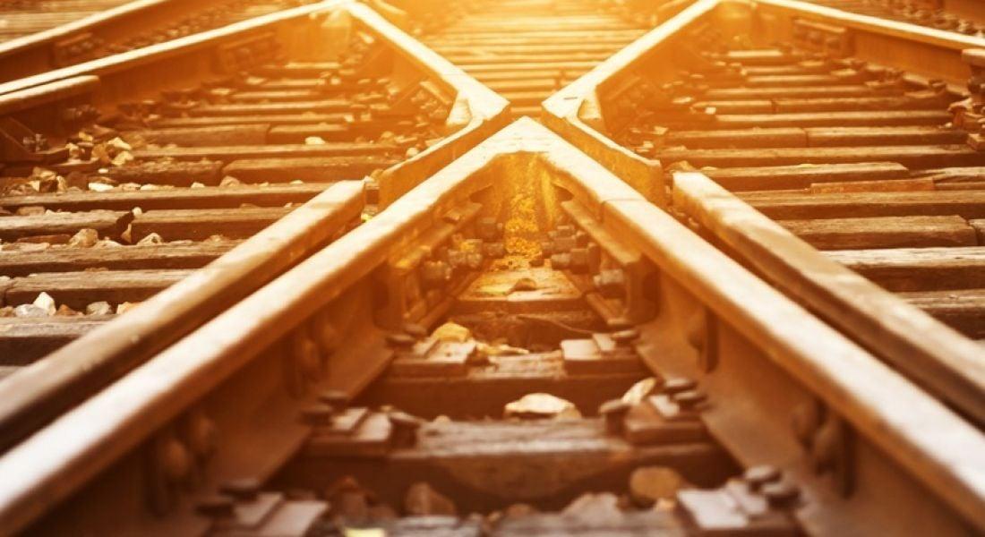 Train track switch point