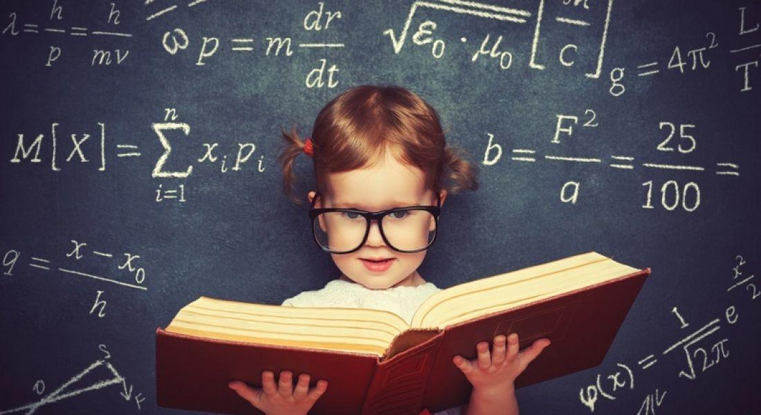 Gender Gap: Young girl studying mathematics