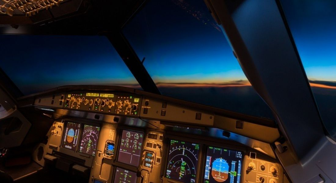 Qatar Airways aircraft cockpit