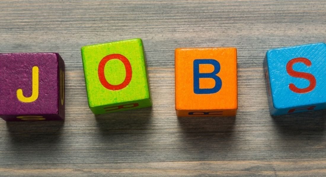 Data science: blocks spelling out jobs