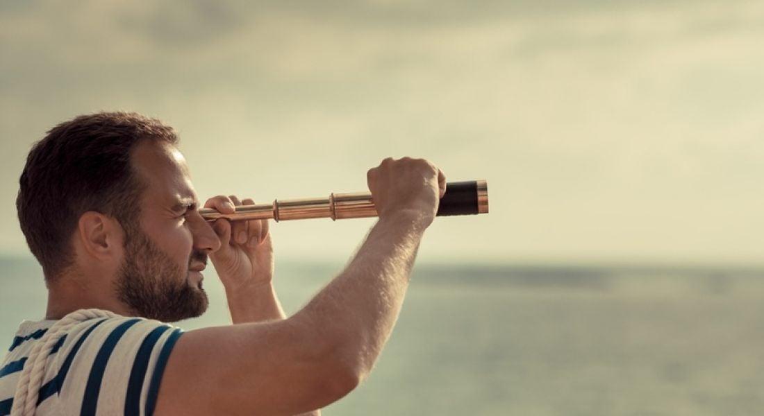 New job: man with telescope