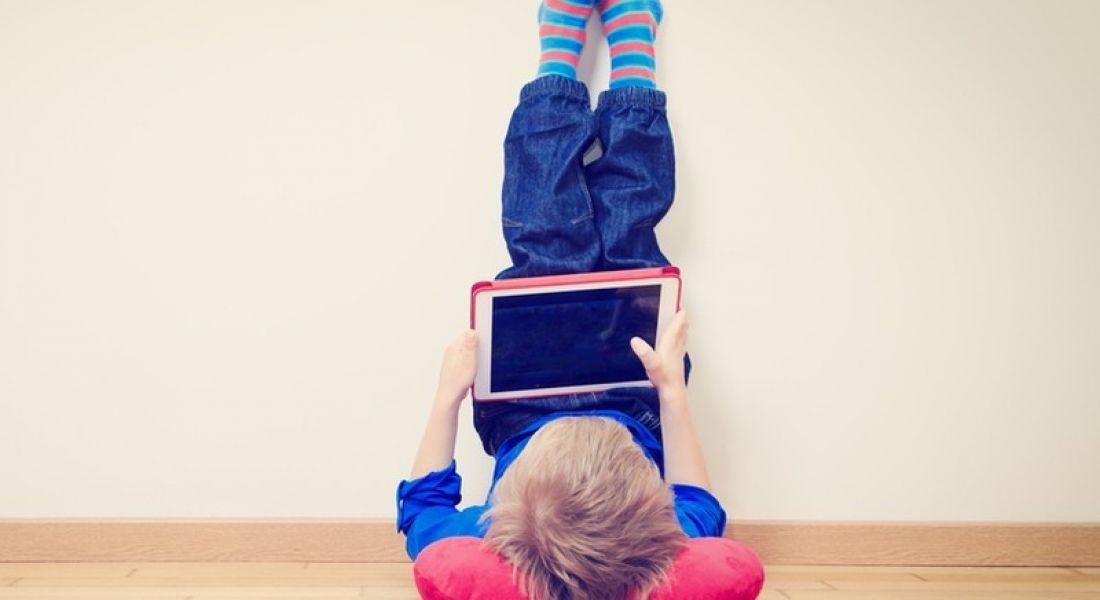 Hour of Code: kid using laptop