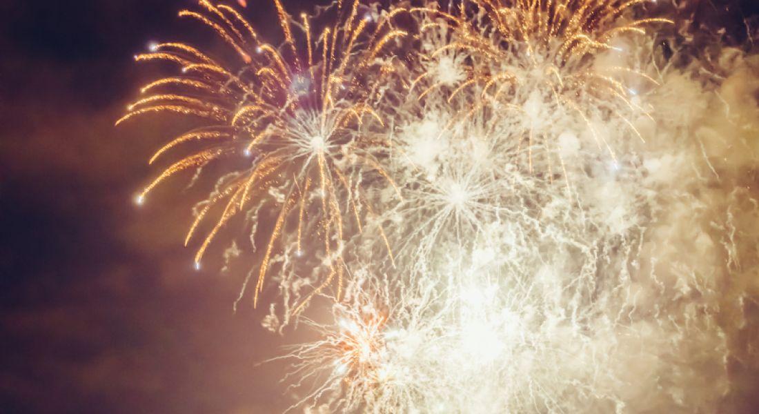 Fireworks celebrating jobs