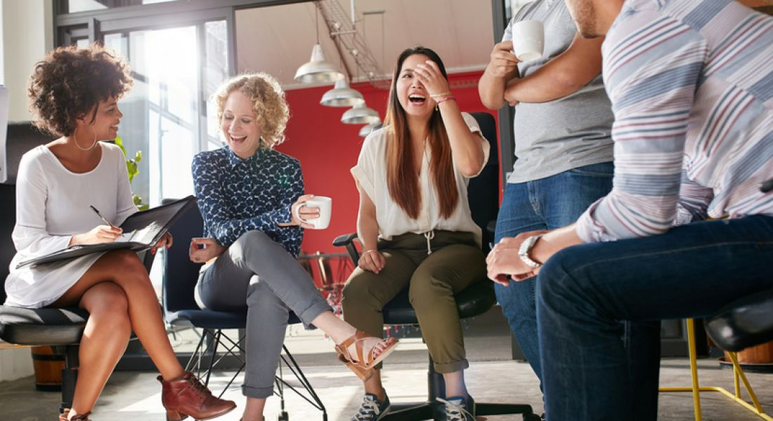Culture: coworkers laughing