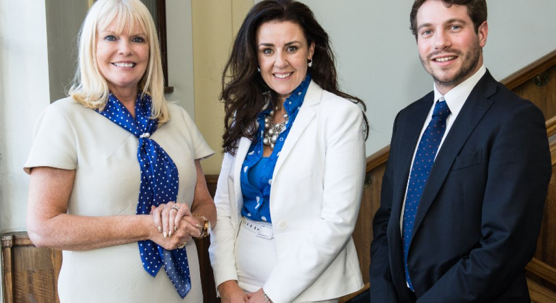 Minister for Jobs, Enterprise and Innovation, Mary Mitchell O'Connor, Joanna Murphy, CEO of ConnectIreland and Paul Pietrangelo, COO of Alien Technology Transfer's Ireland operations