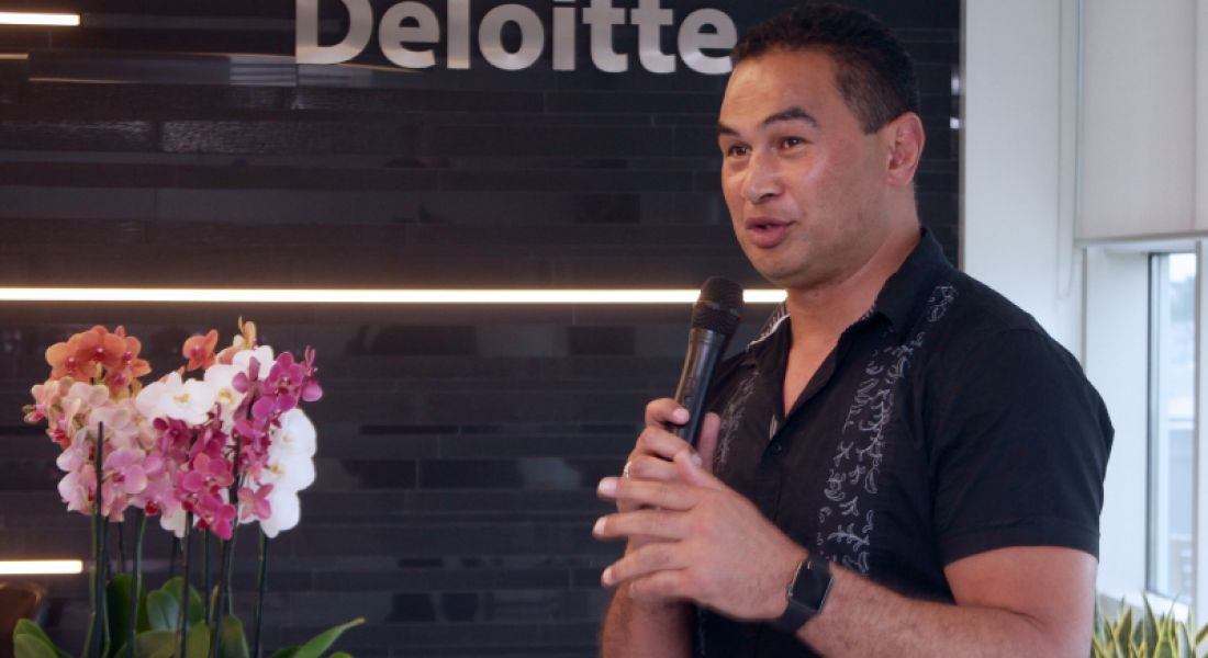Pat Lam, Connacht Rugby head coach, speaking at opening of Galway's Deloitte offices
