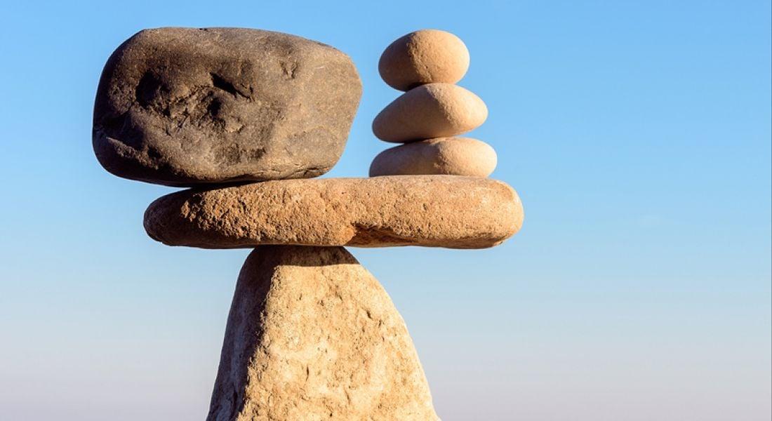 Work-life balance: balancing rocks