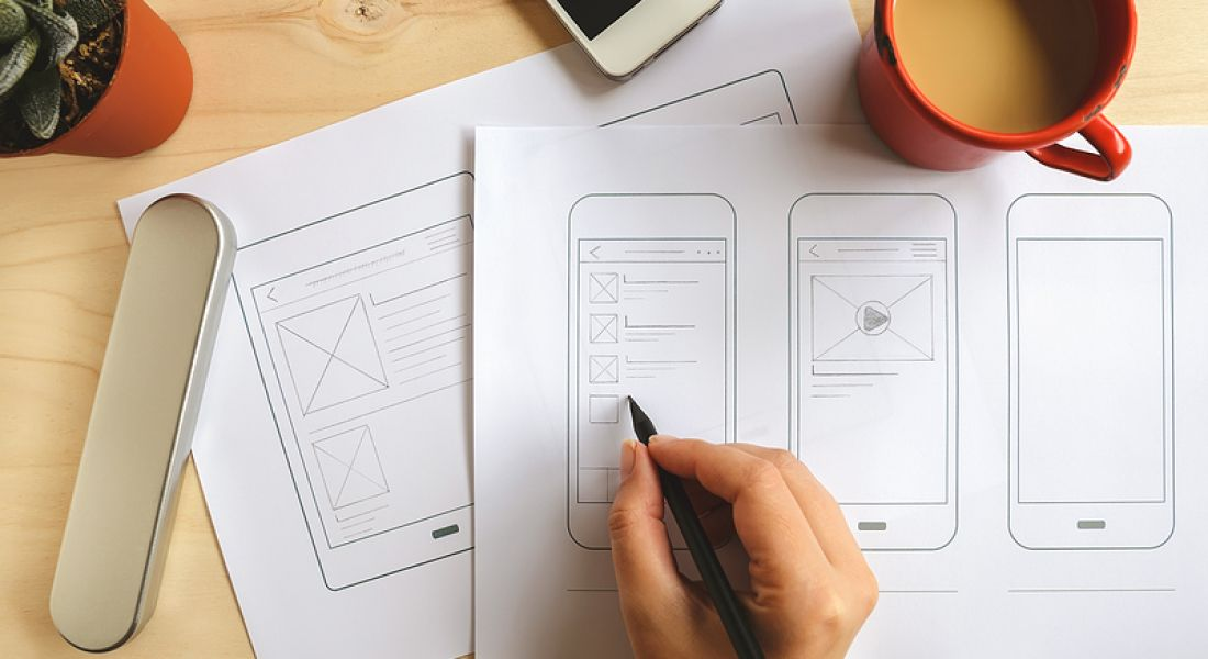 UI/UX design wireframing