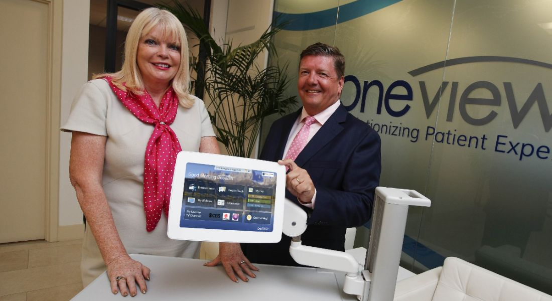 Mary Mitchell O'Connor, TD, pictured with Oneview Healthcare CEO Mark McCloskey