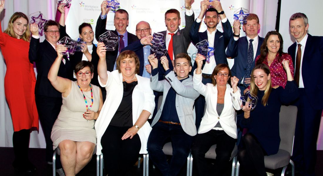 Best place to work award winners; Accenture, EY, Microsoft, Deutsche Bank, Trinity College Dublin, eir, IBM, Sodexo, Metlife and Enterprise Rent-A-Car. Image: Lensmen