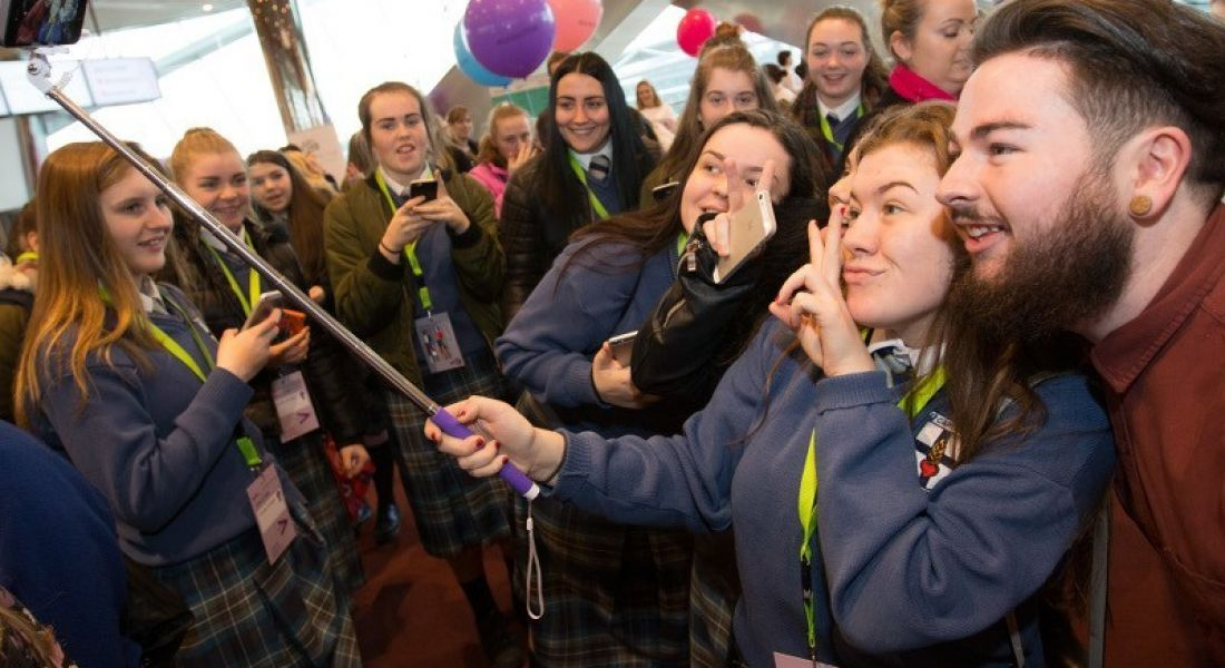 Cian Twomey at the Girls in STEM event