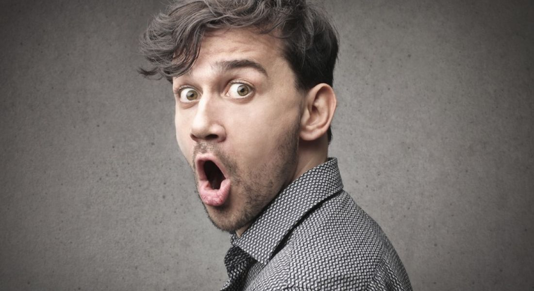 Jobs market: astonished person