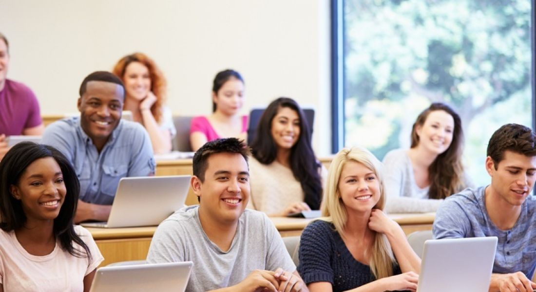 Courses: students in lecture hall