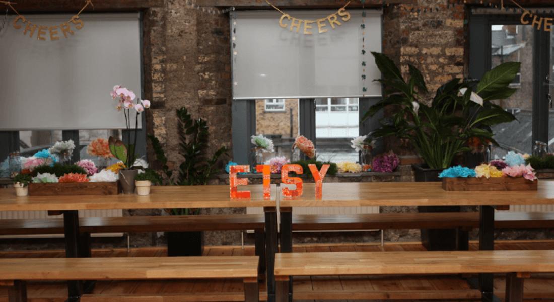 Etsy sign in Dublin office