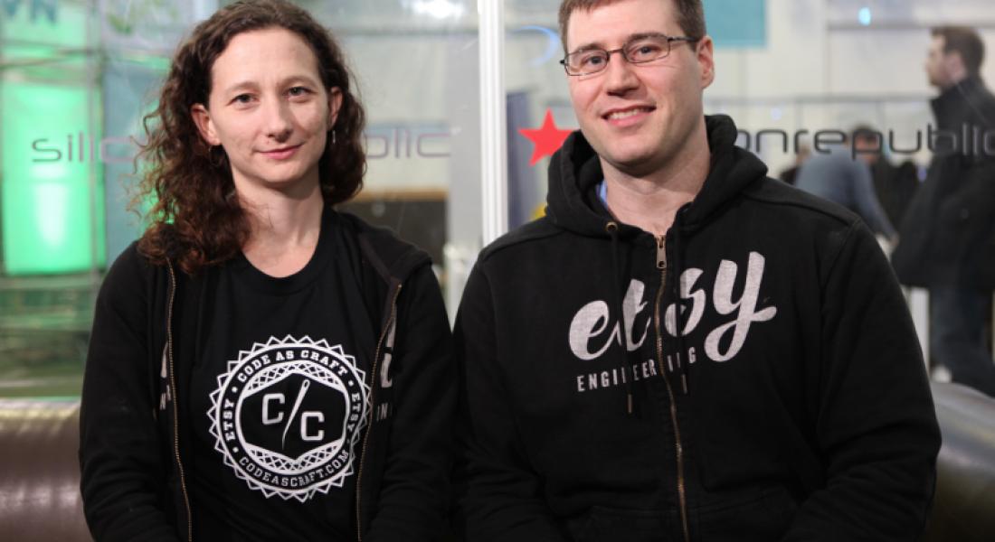 Lauren Sperber, senior software engineer, and Michael Rembetsy, VP of technical operations, Etsy