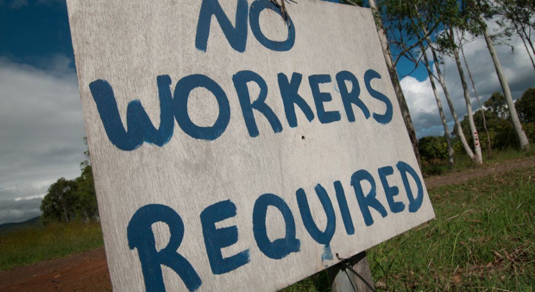 Jobs: No workers required sign