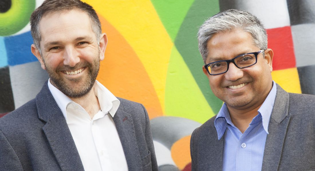 From left: Monsoon Consulting CMO Stephen Kenealy and CEO Bharat Sharma. Image: Tony Kinlan