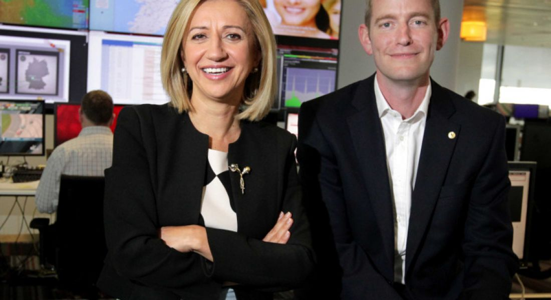 Madalina Suceveanu and James Magill, CTO and HR director of Vodafone, respectively. Image: Mark Stedman