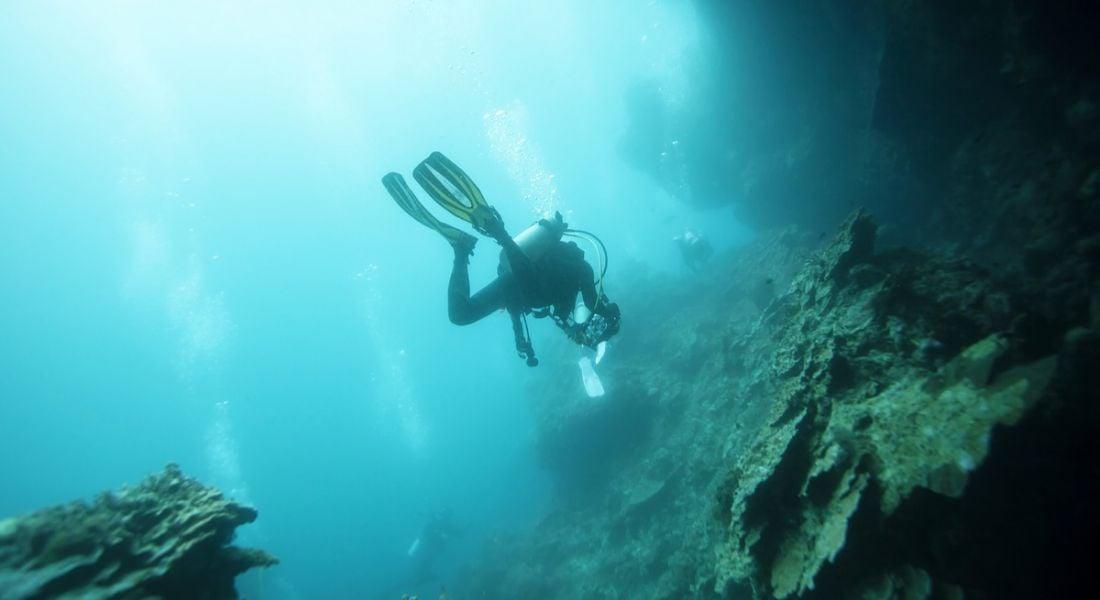 Cave diver cool science job