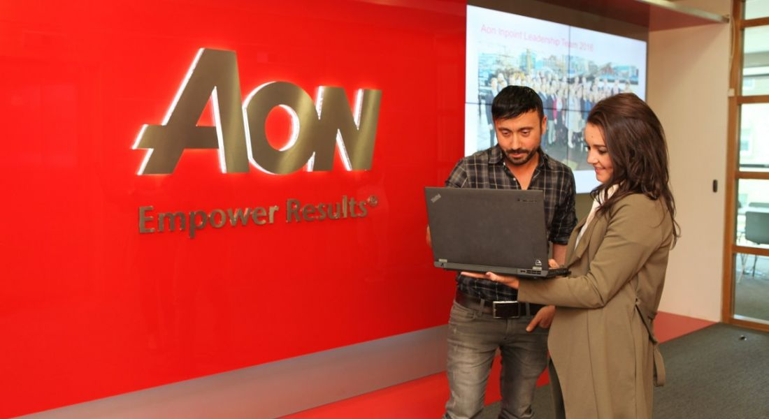 Aon employees at work